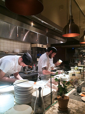 Narcisssa kitchen infont of the chef's counter