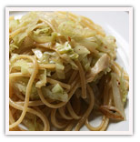 Linguini with Cabbage and Anchovies